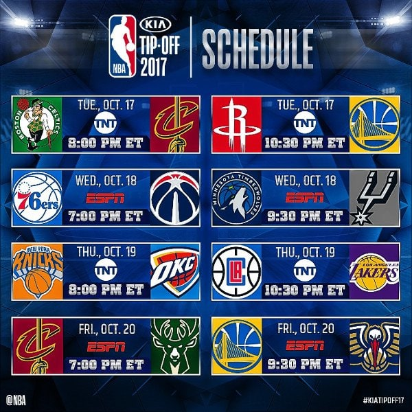 Golden State Warriors Vs Rockets Live Stream: Celtics Vs Cavaliers Live Stream: [2017 NBA TIP-OFF GUIDE]