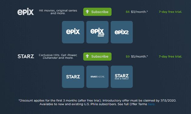 philo-epix-starz-discount